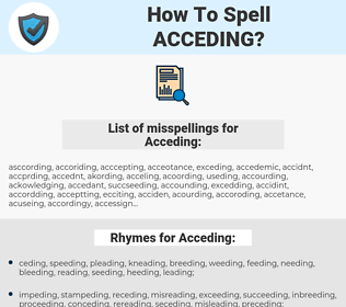 Acceding, spellcheck Acceding, how to spell Acceding, how do you spell Acceding, correct spelling for Acceding
