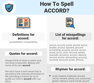 accord, spellcheck accord, how to spell accord, how do you spell accord, correct spelling for accord