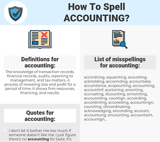 accounting, spellcheck accounting, how to spell accounting, how do you spell accounting, correct spelling for accounting