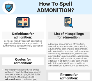 admonition, spellcheck admonition, how to spell admonition, how do you spell admonition, correct spelling for admonition