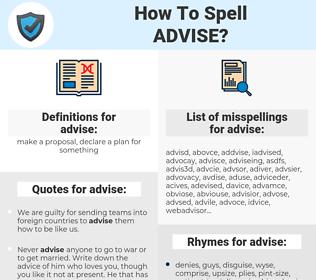 advise, spellcheck advise, how to spell advise, how do you spell advise, correct spelling for advise
