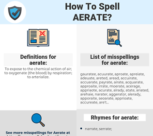 aerate, spellcheck aerate, how to spell aerate, how do you spell aerate, correct spelling for aerate