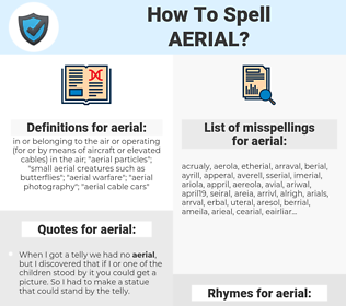 aerial, spellcheck aerial, how to spell aerial, how do you spell aerial, correct spelling for aerial