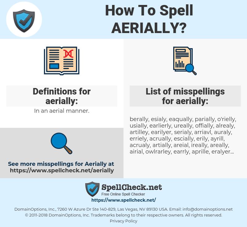 aerially, spellcheck aerially, how to spell aerially, how do you spell aerially, correct spelling for aerially
