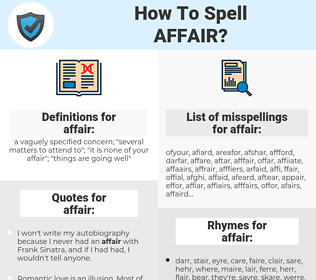 affair, spellcheck affair, how to spell affair, how do you spell affair, correct spelling for affair