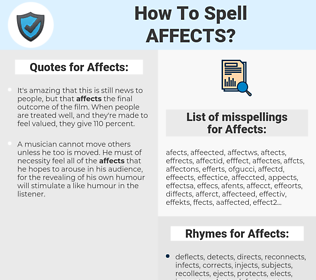 Affects, spellcheck Affects, how to spell Affects, how do you spell Affects, correct spelling for Affects