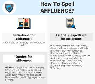 affluence, spellcheck affluence, how to spell affluence, how do you spell affluence, correct spelling for affluence