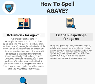 agave, spellcheck agave, how to spell agave, how do you spell agave, correct spelling for agave