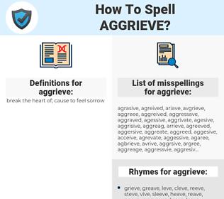 aggrieve, spellcheck aggrieve, how to spell aggrieve, how do you spell aggrieve, correct spelling for aggrieve