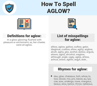 aglow, spellcheck aglow, how to spell aglow, how do you spell aglow, correct spelling for aglow