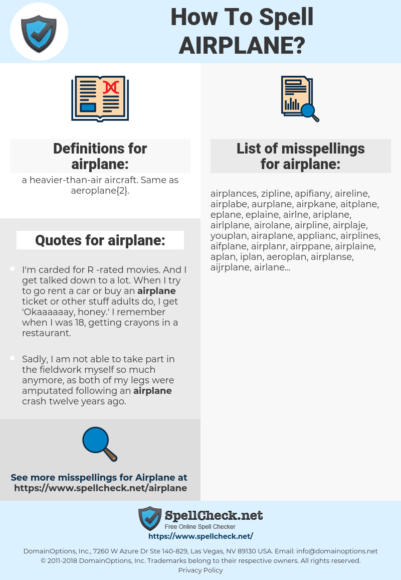 airplane, spellcheck airplane, how to spell airplane, how do you spell airplane, correct spelling for airplane