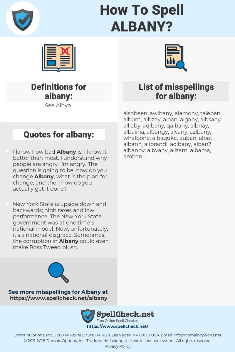 albany, spellcheck albany, how to spell albany, how do you spell albany, correct spelling for albany