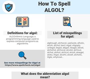 algol, spellcheck algol, how to spell algol, how do you spell algol, correct spelling for algol