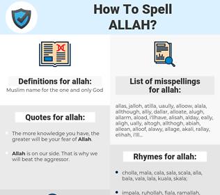 allah, spellcheck allah, how to spell allah, how do you spell allah, correct spelling for allah