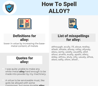 alloy, spellcheck alloy, how to spell alloy, how do you spell alloy, correct spelling for alloy