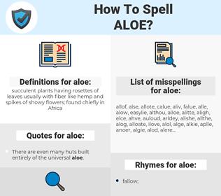 aloe, spellcheck aloe, how to spell aloe, how do you spell aloe, correct spelling for aloe