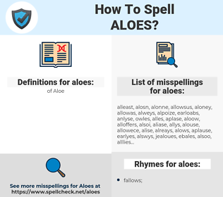 aloes, spellcheck aloes, how to spell aloes, how do you spell aloes, correct spelling for aloes