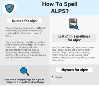 alps, spellcheck alps, how to spell alps, how do you spell alps, correct spelling for alps