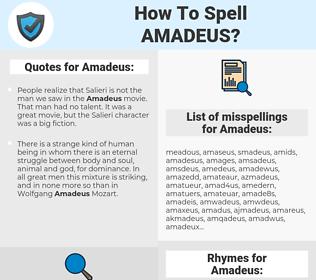 Amadeus, spellcheck Amadeus, how to spell Amadeus, how do you spell Amadeus, correct spelling for Amadeus