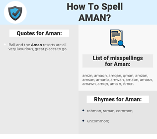 Aman, spellcheck Aman, how to spell Aman, how do you spell Aman, correct spelling for Aman