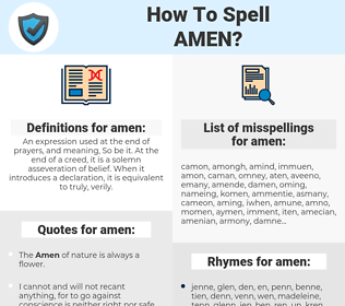 amen, spellcheck amen, how to spell amen, how do you spell amen, correct spelling for amen