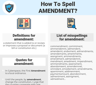 amendment, spellcheck amendment, how to spell amendment, how do you spell amendment, correct spelling for amendment