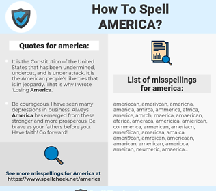 america, spellcheck america, how to spell america, how do you spell america, correct spelling for america
