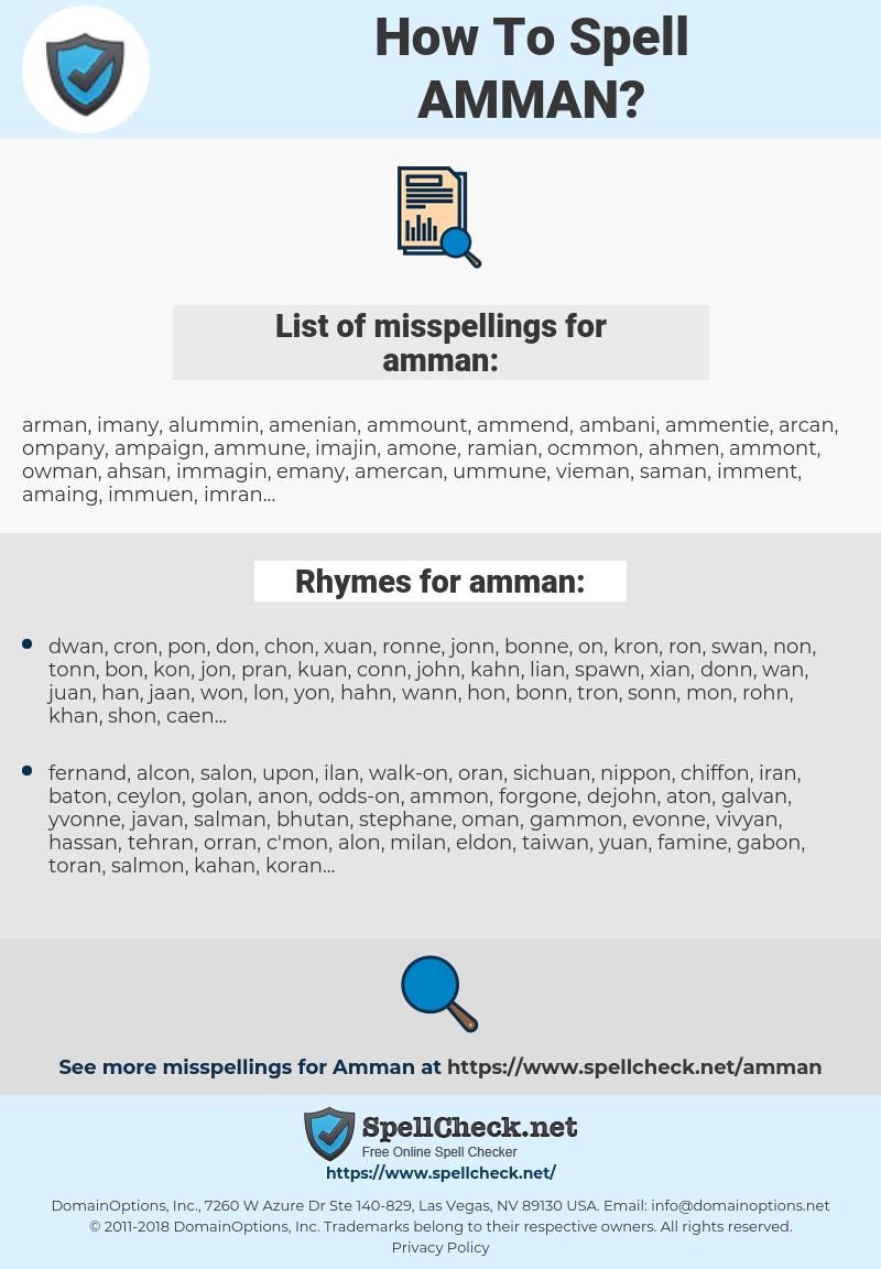 amman, spellcheck amman, how to spell amman, how do you spell amman, correct spelling for amman