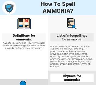 ammonia, spellcheck ammonia, how to spell ammonia, how do you spell ammonia, correct spelling for ammonia