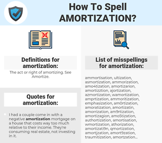 amortization, spellcheck amortization, how to spell amortization, how do you spell amortization, correct spelling for amortization