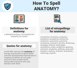 anatomy, spellcheck anatomy, how to spell anatomy, how do you spell anatomy, correct spelling for anatomy