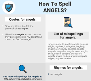 angels, spellcheck angels, how to spell angels, how do you spell angels, correct spelling for angels