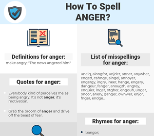 anger, spellcheck anger, how to spell anger, how do you spell anger, correct spelling for anger