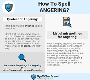 Angering, spellcheck Angering, how to spell Angering, how do you spell Angering, correct spelling for Angering