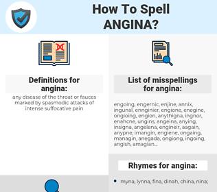 angina, spellcheck angina, how to spell angina, how do you spell angina, correct spelling for angina