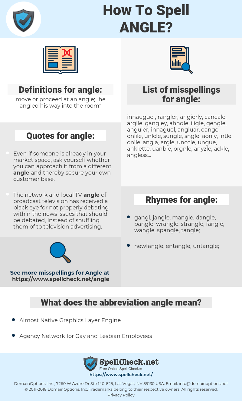 angle, spellcheck angle, how to spell angle, how do you spell angle, correct spelling for angle