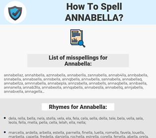 Annabella, spellcheck Annabella, how to spell Annabella, how do you spell Annabella, correct spelling for Annabella