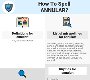 annular, spellcheck annular, how to spell annular, how do you spell annular, correct spelling for annular