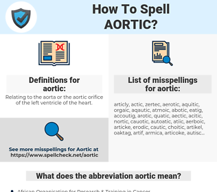 aortic, spellcheck aortic, how to spell aortic, how do you spell aortic, correct spelling for aortic