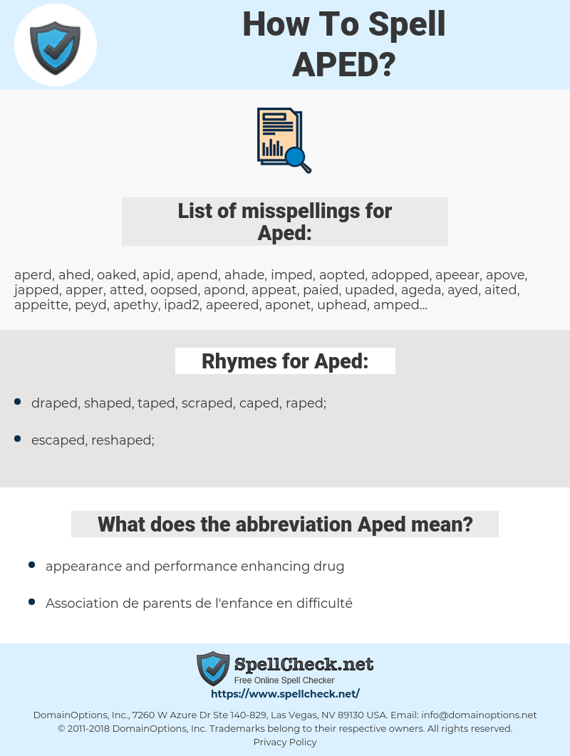 Aped, spellcheck Aped, how to spell Aped, how do you spell Aped, correct spelling for Aped