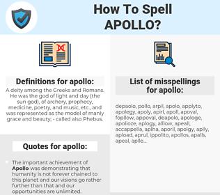 apollo, spellcheck apollo, how to spell apollo, how do you spell apollo, correct spelling for apollo