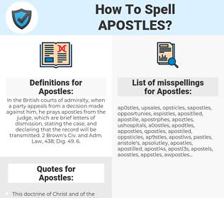 Apostles, spellcheck Apostles, how to spell Apostles, how do you spell Apostles, correct spelling for Apostles