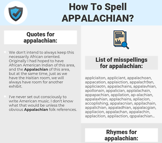 appalachian, spellcheck appalachian, how to spell appalachian, how do you spell appalachian, correct spelling for appalachian