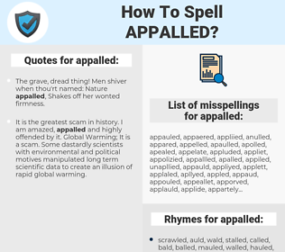appalled, spellcheck appalled, how to spell appalled, how do you spell appalled, correct spelling for appalled