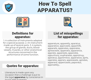 apparatus, spellcheck apparatus, how to spell apparatus, how do you spell apparatus, correct spelling for apparatus