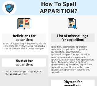 apparition, spellcheck apparition, how to spell apparition, how do you spell apparition, correct spelling for apparition