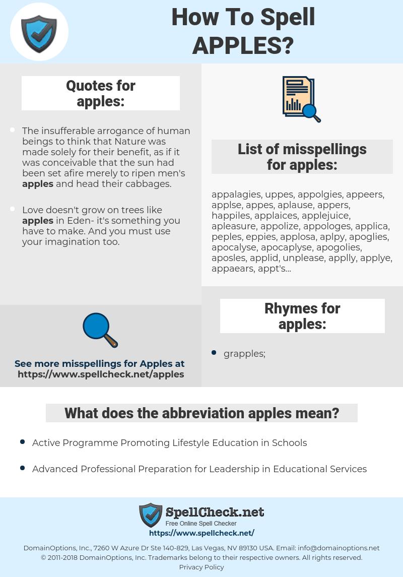 apples, spellcheck apples, how to spell apples, how do you spell apples, correct spelling for apples