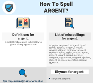 argent, spellcheck argent, how to spell argent, how do you spell argent, correct spelling for argent