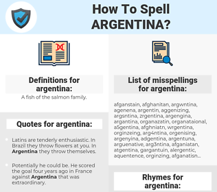 argentina, spellcheck argentina, how to spell argentina, how do you spell argentina, correct spelling for argentina