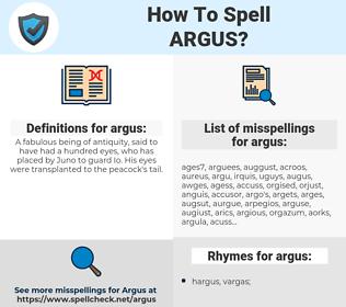 argus, spellcheck argus, how to spell argus, how do you spell argus, correct spelling for argus